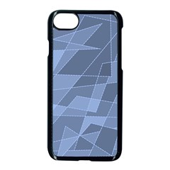 Lines Shapes Pattern Web Creative Apple Iphone 7 Seamless Case (black)