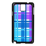 Gingham Pattern Blue Purple Shades Samsung Galaxy Note 3 N9005 Case (Black) Front