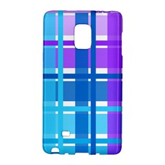 Gingham Pattern Blue Purple Shades Galaxy Note Edge by Amaryn4rt