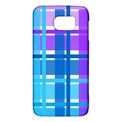 Gingham Pattern Blue Purple Shades Galaxy S6