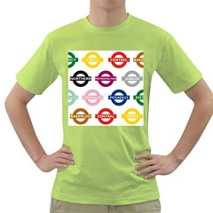 Underground Signs Tube Signs Green T Shirt