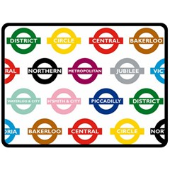 Underground Signs Tube Signs Fleece Blanket (large)  by Amaryn4rt