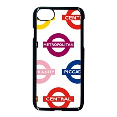 Underground Signs Tube Signs Apple Iphone 7 Seamless Case (black) by Amaryn4rt
