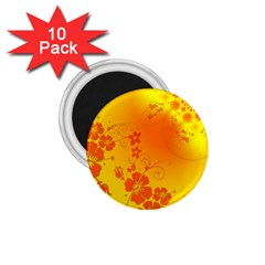 Flowers Floral Design Flora Yellow 1 75  Magnets (10 Pack)  by Amaryn4rt