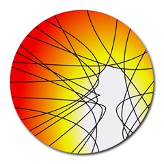 Spirituality Man Origin Lines Round Mousepads by Amaryn4rt