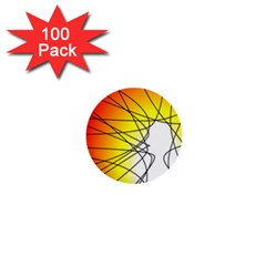 Spirituality Man Origin Lines 1  Mini Buttons (100 Pack)  by Amaryn4rt