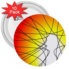 Spirituality Man Origin Lines 3  Buttons (10 Pack)  by Amaryn4rt