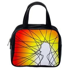 Spirituality Man Origin Lines Classic Handbags (one Side) by Amaryn4rt