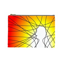Spirituality Man Origin Lines Cosmetic Bag (large)  by Amaryn4rt