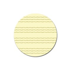 Background Pattern Lines Magnet 3  (round) by Amaryn4rt