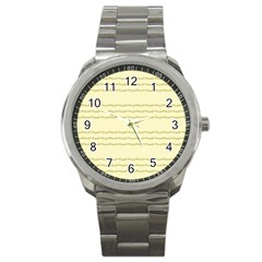 Background Pattern Lines Sport Metal Watch by Amaryn4rt