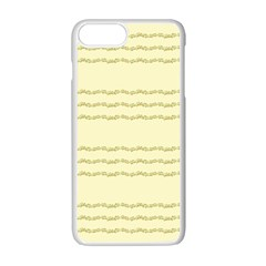 Background Pattern Lines Apple Iphone 7 Plus White Seamless Case