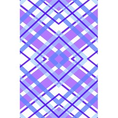 Geometric Plaid Pale Purple Blue 5 5  X 8 5  Notebooks by Amaryn4rt