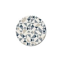 Geometric Triangle Modern Mosaic Golf Ball Marker (4 Pack) by Amaryn4rt