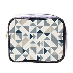 Geometric Triangle Modern Mosaic Mini Toiletries Bags by Amaryn4rt