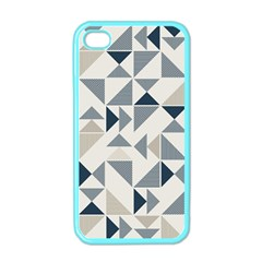Geometric Triangle Modern Mosaic Apple Iphone 4 Case (color) by Amaryn4rt