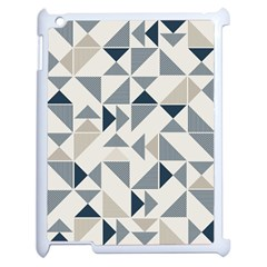 Geometric Triangle Modern Mosaic Apple Ipad 2 Case (white) by Amaryn4rt