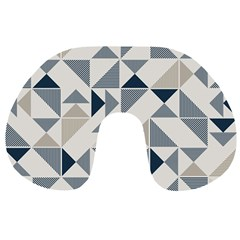 Geometric Triangle Modern Mosaic Travel Neck Pillows by Amaryn4rt