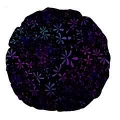 Retro Flower Pattern Design Batik Large 18  Premium Round Cushions by Amaryn4rt