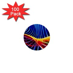 Color Colorful Wave Abstract 1  Mini Buttons (100 Pack)  by Amaryn4rt