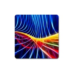 Color Colorful Wave Abstract Square Magnet