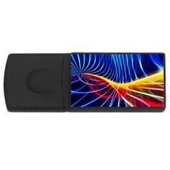 Color Colorful Wave Abstract Usb Flash Drive Rectangular (4 Gb) by Amaryn4rt