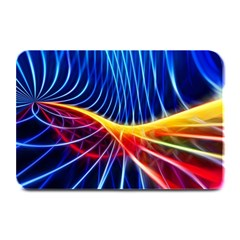 Color Colorful Wave Abstract Plate Mats by Amaryn4rt