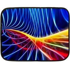 Color Colorful Wave Abstract Fleece Blanket (mini)