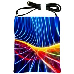 Color Colorful Wave Abstract Shoulder Sling Bags by Amaryn4rt