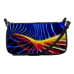 Color Colorful Wave Abstract Shoulder Clutch Bags by Amaryn4rt