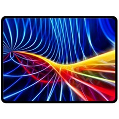 Color Colorful Wave Abstract Fleece Blanket (large)  by Amaryn4rt