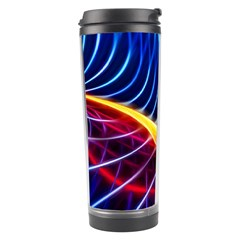 Color Colorful Wave Abstract Travel Tumbler by Amaryn4rt