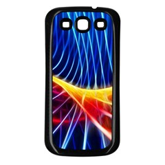 Color Colorful Wave Abstract Samsung Galaxy S3 Back Case (black) by Amaryn4rt