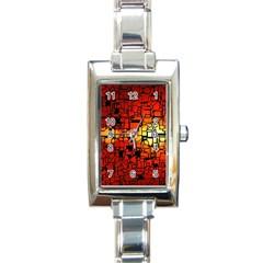 Board Conductors Circuits Rectangle Italian Charm Watch by Amaryn4rt