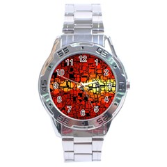 Board Conductors Circuits Stainless Steel Analogue Watch by Amaryn4rt