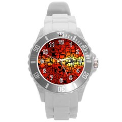 Board Conductors Circuits Round Plastic Sport Watch (l) by Amaryn4rt