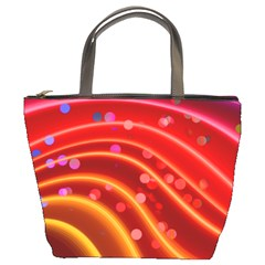 Bokeh Lines Wave Points Swing Bucket Bags by Amaryn4rt