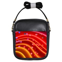 Bokeh Lines Wave Points Swing Girls Sling Bags by Amaryn4rt