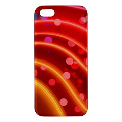Bokeh Lines Wave Points Swing Iphone 5s/ Se Premium Hardshell Case by Amaryn4rt