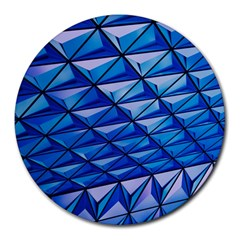 Lines Geometry Architecture Texture Round Mousepads