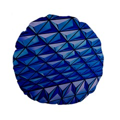 Lines Geometry Architecture Texture Standard 15  Premium Flano Round Cushions by Amaryn4rt