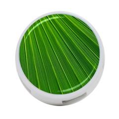 Green Lines Macro Pattern 4 Port Usb Hub (two Sides)  by Amaryn4rt