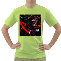 Night View Night Chaos Line City Green T Shirt