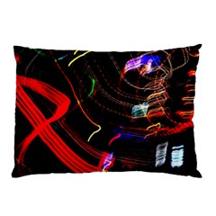 Night View Night Chaos Line City Pillow Case by Amaryn4rt