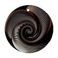 Abstract Background Curves Round Ornament (two Sides) by Amaryn4rt