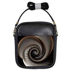 Abstract Background Curves Girls Sling Bags by Amaryn4rt