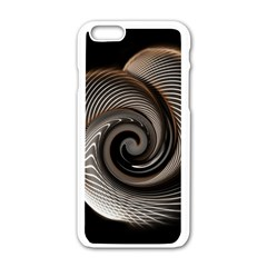 Abstract Background Curves Apple Iphone 6/6s White Enamel Case by Amaryn4rt