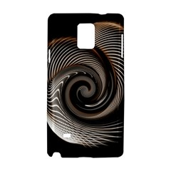 Abstract Background Curves Samsung Galaxy Note 4 Hardshell Case by Amaryn4rt