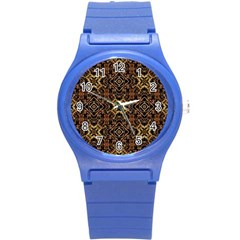 Tribal Geometric Print Round Plastic Sport Watch (s) by dflcprints