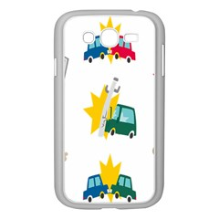 Accident Crash Car Cat Animals Samsung Galaxy Grand Duos I9082 Case (white) by Alisyart